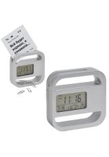 """Часы-подставка для скрепок и записок """"WINDOW"""" 9,5*9,5 см, пластик; тампопечать"""