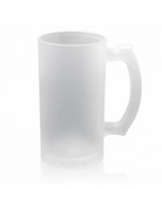 Кружка стеклянная пивная. Полноцветная печать логотипа