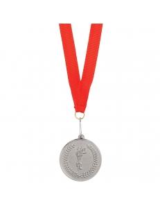 "Медаль наградная на ленте ""Серебро"""