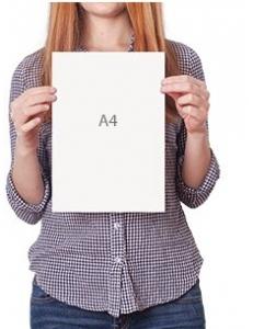 Формат А4, включена стоимость бумаги 115 г/м