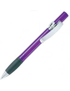 ALLEGRA TC, ручка шариковая, прозрачный сиреневый/хром, пластик/металл