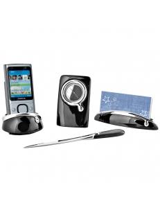 Набор настольный: часы, нож для вскрытия корреспонденции и подставки для визиток и мобильного телефона