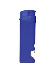 Зажигалка пьезо ISKRA с открывалкой, синяя, 8,2х2,5х1,2 см, пластик