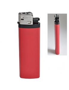 Зажигалка кремневая ISKRA, красная, 8,18х2,53х1,05 см, пластик