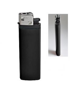 Зажигалка кремневая ISKRA, черная, 8,18х2,53х1,05 см, пластик