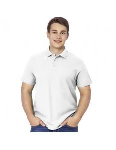 Рубашка-поло мужская Premier белая, 185 гр/м2