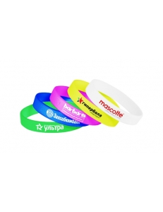Силиконовый браслет с печатью логотипа круговая шелкография в 1 цвет