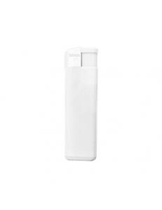 Зажигалка пьезо ISKRA, белая, 8,24х2,52х1,17 см, пластик