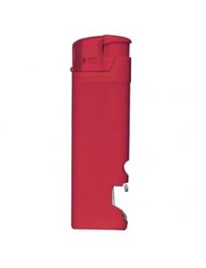 Зажигалка пьезо ISKRA с открывалкой, красная, 8,2х2,5х1,2 см, пластик