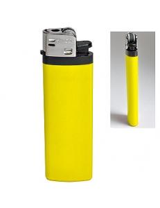Зажигалка кремневая ISKRA, желтая, 8,18х2,53х1,05 см, пластик
