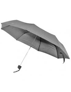Зонт складной, механический, с пластиковой ручкой, серый, D=103 cм, нейлон